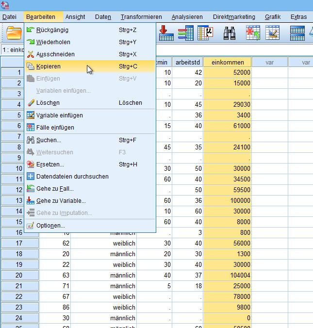 Box-Cox Variable kopieren