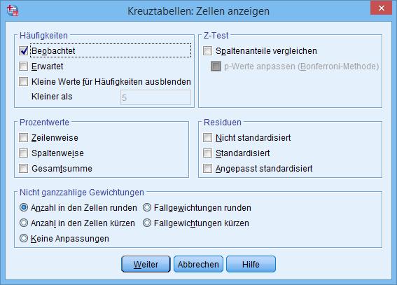 Chi Quadrat Berechnen : chi quadrat test f r unabh ngigkeit in spss durchf hren ~ Themetempest.com Abrechnung