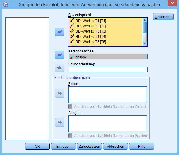 Boxplot Dialog Variablen (ausgefüllt)