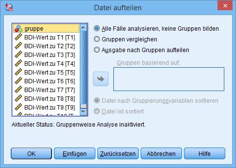 Datei Aufteilen Fenster