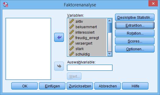 Hauptkomponentenanalyse: Faktorenanalyse (ausgefüllt)
