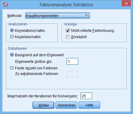 Hauptkomponentenanalyse: Extraktion