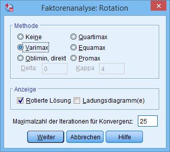 Hauptkomponentenanalyse: Rotation (ausgewählt)