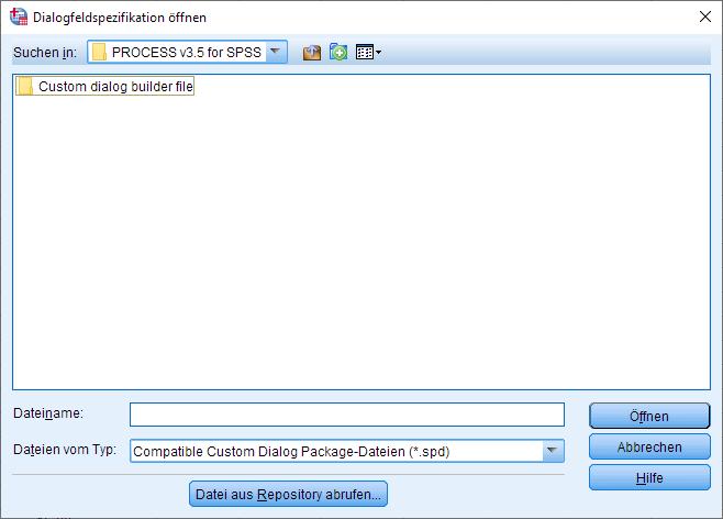 PROCESS Makro installieren: Öffnen Dialogfesnter Schritt #2