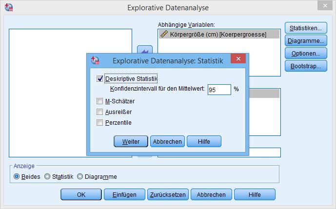 spss_normalverteilungstest_explorative_datenanalyse_statistiken