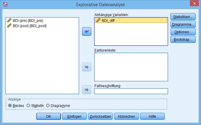 t-Test Explorative Datenanalyse mit Variablen (ausgefüllt)